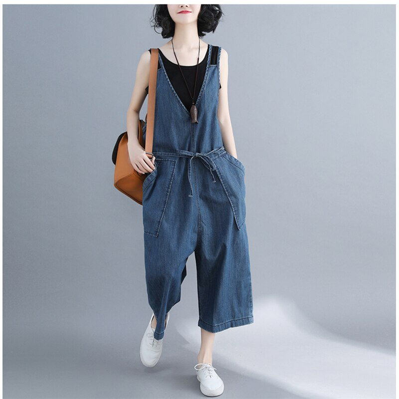 casual Denim Jumpsuit summer Ladies Long Pants rompers women jumpsuit Overalls ripped jeans Strappy Off Shoulder jeans PP-309