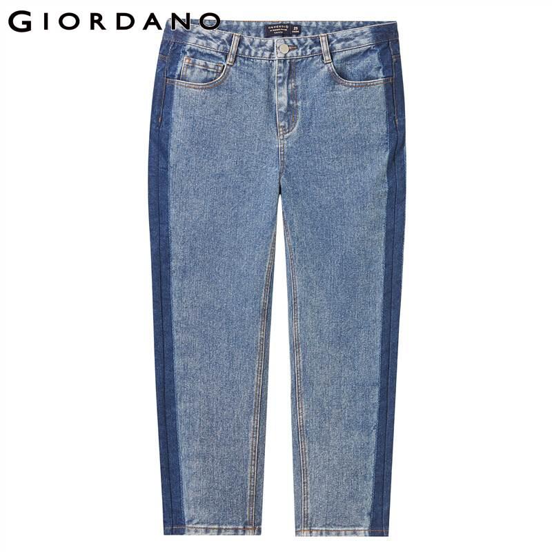 Giordano Women Jeans Mid Rise Straight Ankle-length Denim Jeans Slant Pockets Casual Calca Jeans Feminina 05429313 1