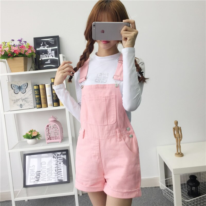 2016 Free shipping Summer Women Jeans Short Loose cowboy overalls shorts Big yards conjoined shorts BL06 2