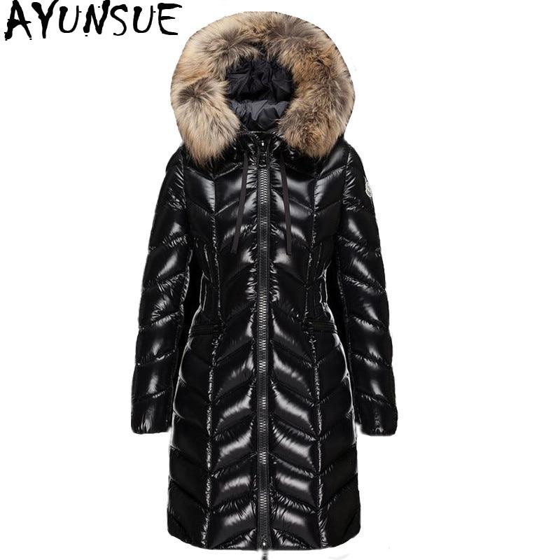 Winter Women's Down Jacket 90% White Duck Down Coat Hooded Long Warm Puffer Jacket 2020 High Quality Doudoune Femme Hiver KJ2596 1