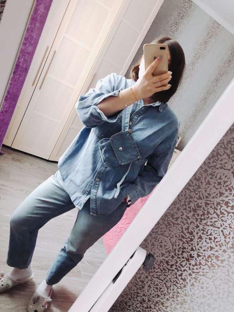 Vintage Sashes Slim Waist Jeans Coat Women Autumn Spring Women Denim Jacket Korean Long Denim Women Jacket