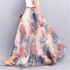 Maxi Skirts Girls Lengthy Skirt Chiffon Saia Seashore Excessive