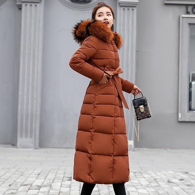 Winter women down jacket female coat 2020 new thick warm long down coat female outerwear fashion hooded winter jacket women 3