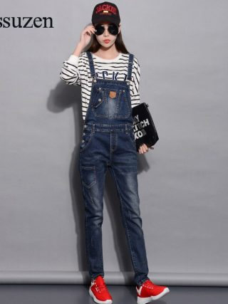 Denim Jumpsuits Girls Vogue Summer time Romper Lengthy