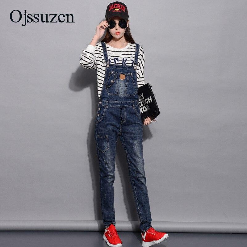 Spring Denim Jumpsuits Women Fashion Summer Romper Long Pants Elasticity Jeans Overalls For Women Jeans Bodysuits Ladies