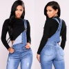 Denims for Ladies with Excessive Waist Slim Match Skinny Overalls