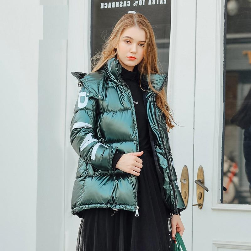 Women's Down Jacket Hood Down Coat Women Jacket Plus Size Parka Winter Puffer Jacket Coat Warm Oversize Lady Down Jackets 1