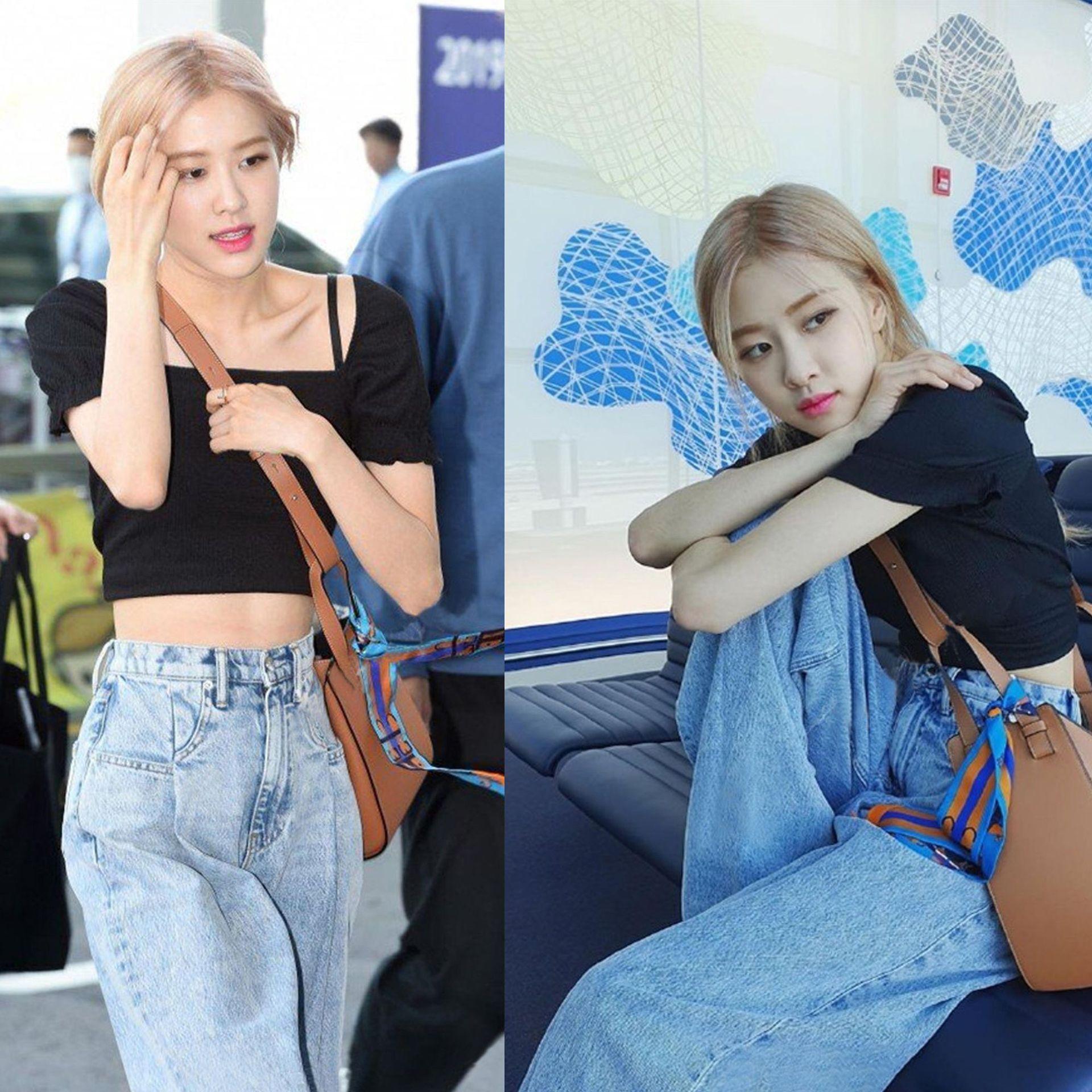 kpop Celebrity ROSE the same summer High waist Wide Leg Loose Straight Jeans women streetwear fashion Loose Straight denim pants 2
