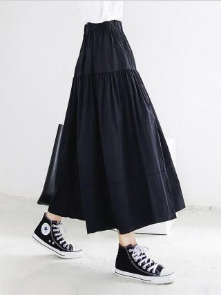 Summer season Autumn Ladies Lengthy Skirts Stable Elegant