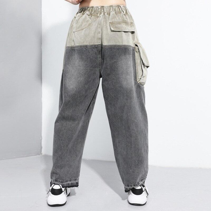 Ladies Casual Jeans Femme Straight Pants 2020 New Arrivals Zipper Jeans Woman Elastic Waist Push Up Ripped Denim Trousers Z2 3