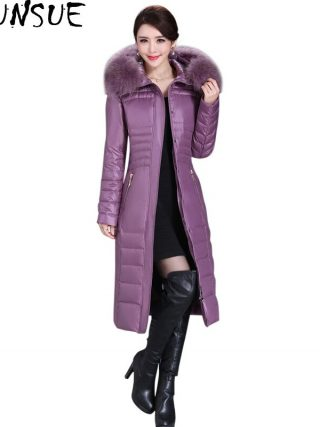 Winter Duck Down Jacket Ladies Lengthy Slim Coat