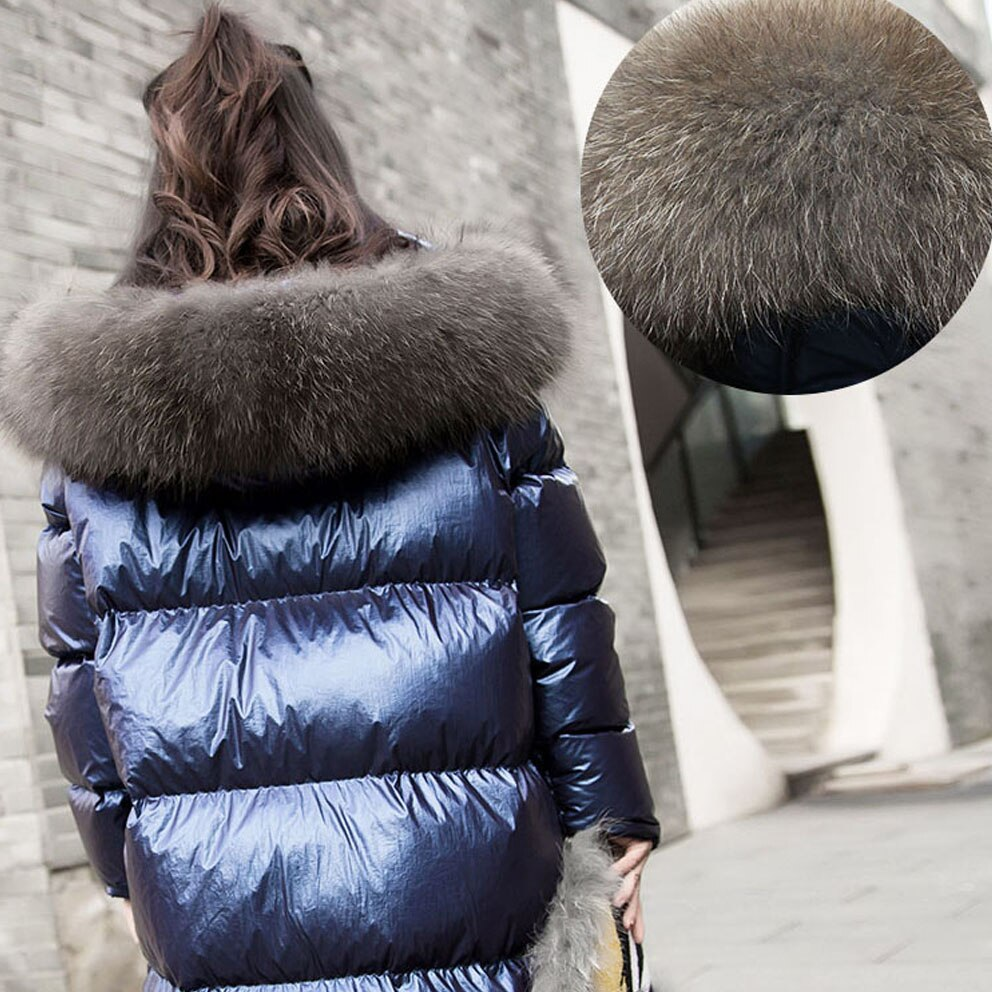 Women Down Jacket 2020 New Winter Coat big Real Fur Collar Women Long Paragraph Thickening Warm Hooded For Female Parka YRF14 2