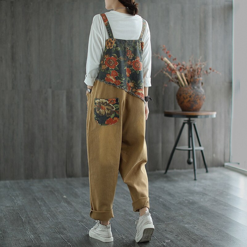 Max LuLu New Chinese Designer Ladies Floral Denim Trousers Womens Vintage Printed Jeans Casual Loose Ripped Oversized Overalls 1