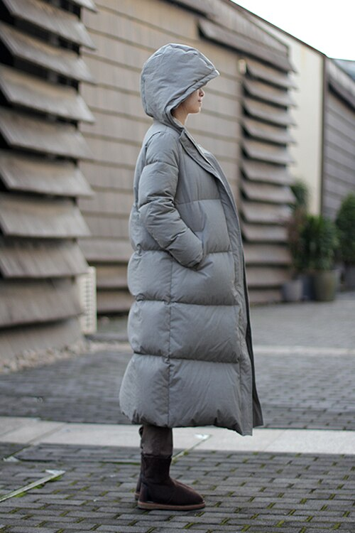 Extra Thick Women Down Coat Long Winter Coat Plus Size Winter Down Jacket 2017 New Design 2