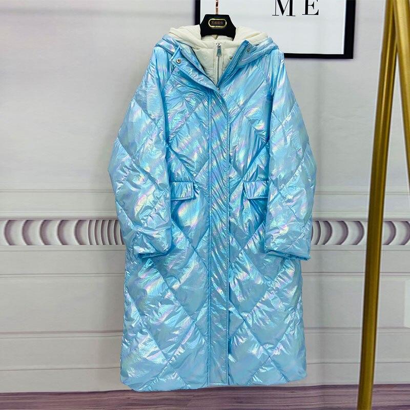 Oversize Hooded Women Down Jacket New Arrival Long Loose White Duck Down Coat Long Down Parka Female Warm Winter Coat Women 1