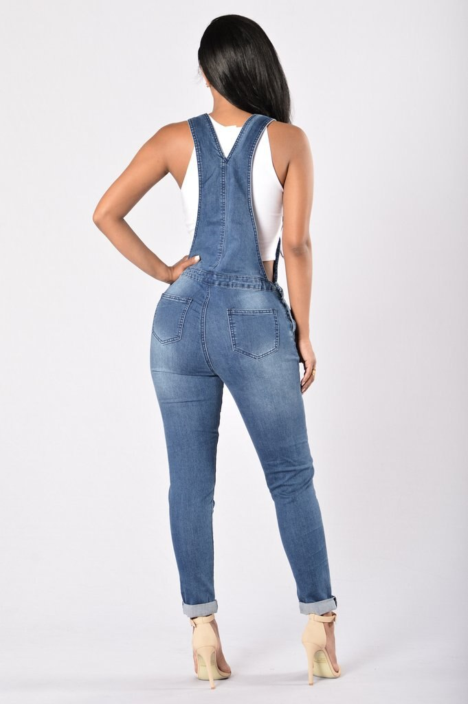 QMGOOD 2018 Denim Women's Overalls High Waist Ripped Jeans Woman Jumpsuits Stretch Denim Pants Female Torn Jumper Trousers 3XL 2