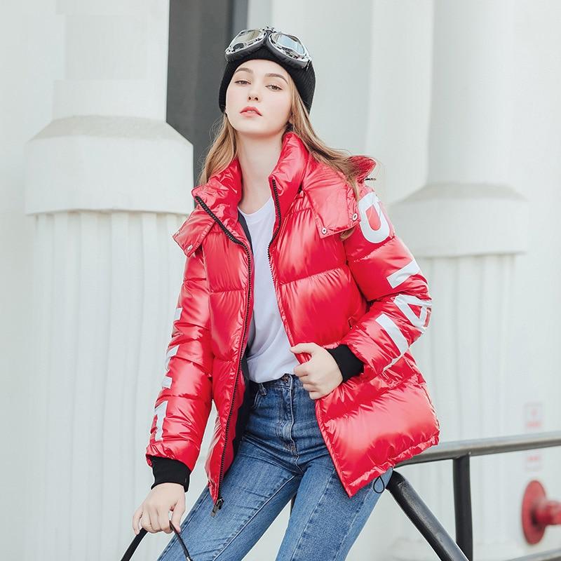 Women's Down Jacket Hood Down Coat Women Jacket Plus Size Parka Winter Puffer Jacket Coat Warm Oversize Lady Down Jackets 3