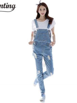 Fall Style Model Fashion Ladies Denims Rompers