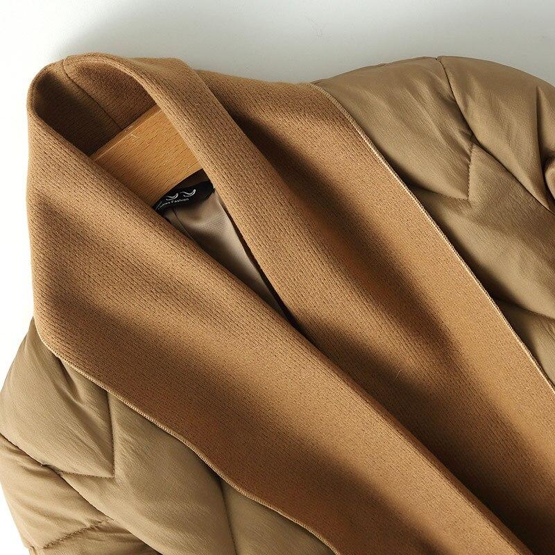 Original fashion style winter long women's jacket thicken coat loose cotton padded parkas cloak type outwear soft comfortable 4
