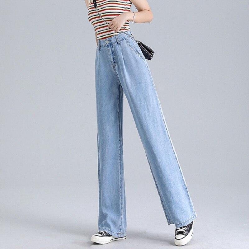Woman Baggy Jeans High Waist Slim Thin Loose Straight Tencel Wide Leg Pants Mom Jeans Fall 2020 Women Cargo Pants Women 1