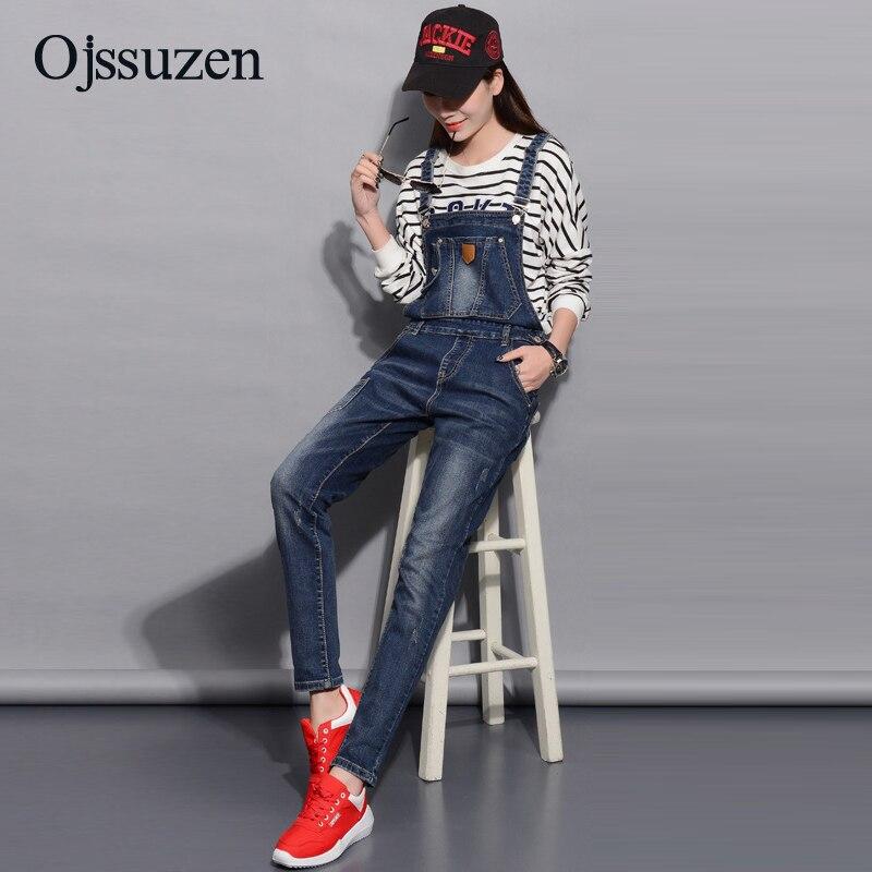 Spring Denim Jumpsuits Women Fashion Summer Romper Long Pants Elasticity Jeans Overalls For Women Jeans Bodysuits Ladies 3