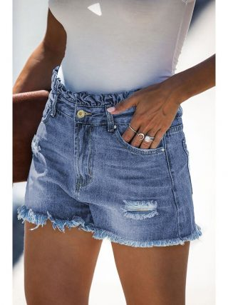 Girls's Denim Shorts Denims For Girls Horny Pants Streetwear