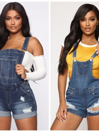 Jumpsuit Denim Brief Overalls Skinny Denims Playsuits
