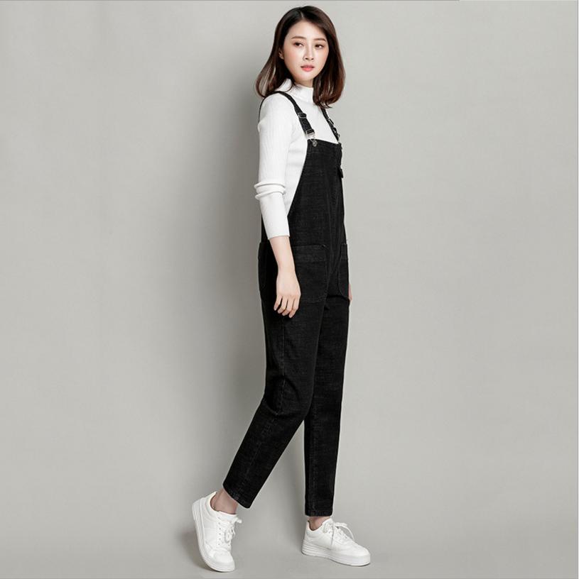 2018 Jeans Fashion loose Plus Size S-3XL&4XL&5XL Pants Women Pencil pants Overalls Jumpsuit And Rompers Denim Trousers L95 3