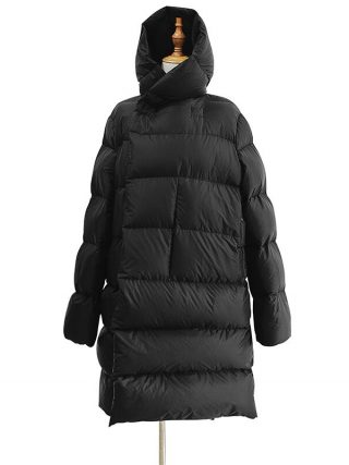 Lengthy Parka Ladies Black Down Jacket Feminine Winte