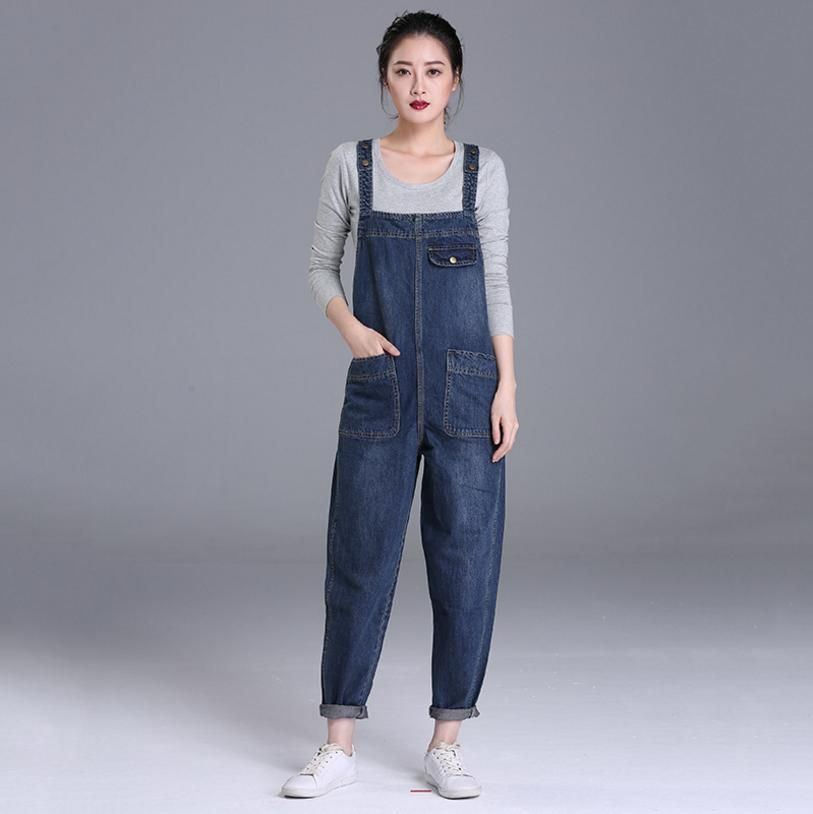2018 Jeans Fashion loose Plus Size S-3XL&4XL&5XL Pants Women Pencil pants Overalls Jumpsuit And Rompers Denim Trousers L95 2