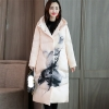 Winter Ladies Print Down jacket white duck