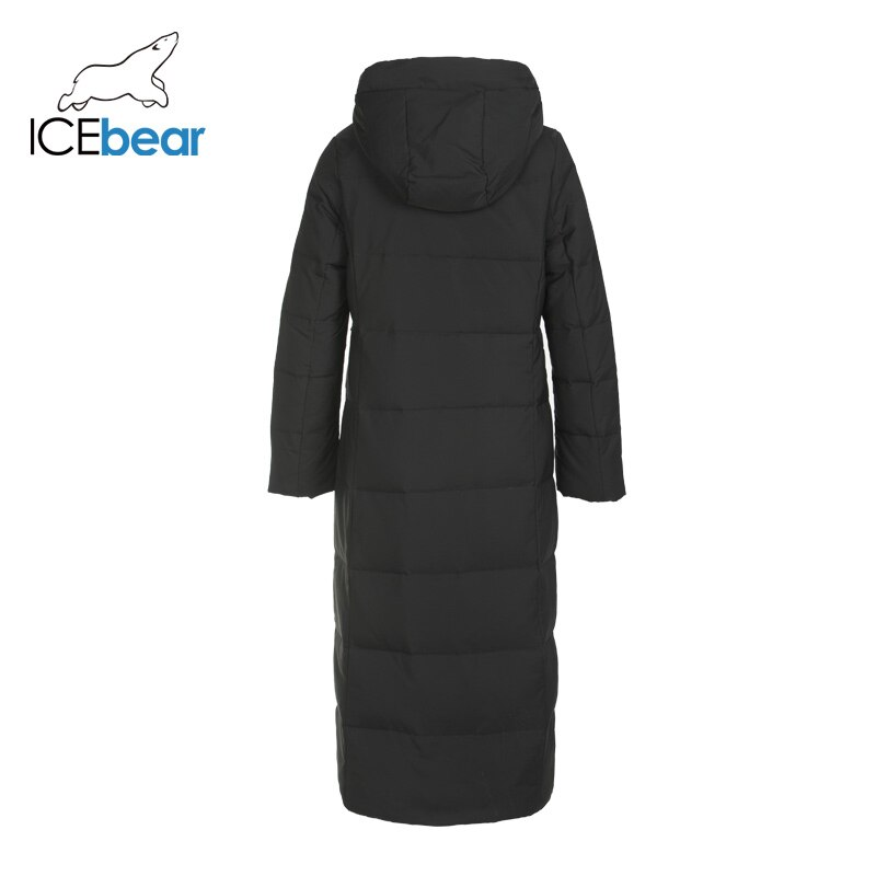 ICEbear 2019 new winter long women's down jacket fashion warm ladies jacket hooded brand ladies clothing GN418275P 2