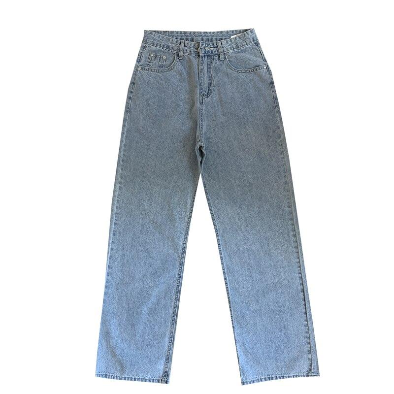 High Waist Mom Gloria Plus Size Denim boyfriend Jeans For Women Streetwear Straight Jean Femme Blue Cargo Pants Wide Pants 4
