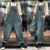 Jumpsuits Girls Straps Bib Huge Leg Denim Trousers Huge