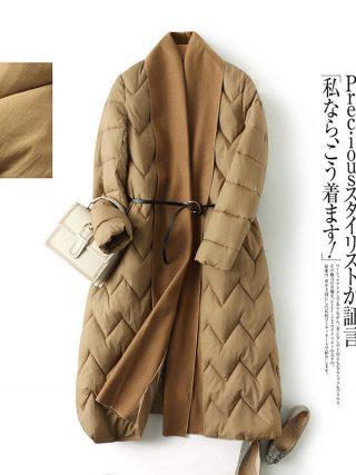 Unique vogue fashion winter lengthy girls's jacket