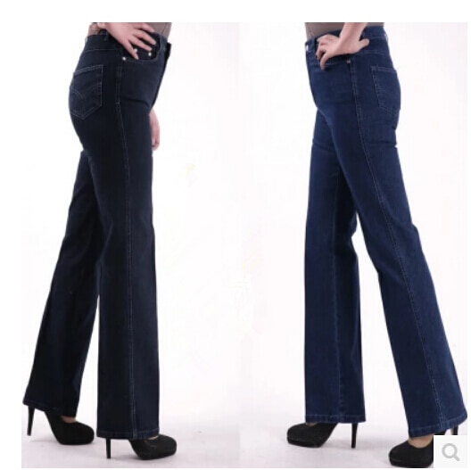 New Fashion 2020 Women Casual Straight Jeans Plus Size Jeans Female Denim Trousers High Waist Jeans For Women Free Shipping 2