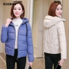Girls Down Jacket Hooded Down Coat White for Girls Slim