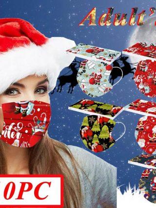 Christmas Face Masks Disposable Santa