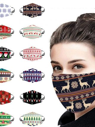 Christmas Face Masks Reusable