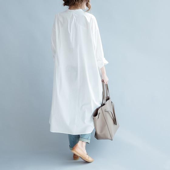 Women Dress Cotton Shirt Dress White Loose Plus Size Long Women Dresses Vintage Spring Summer Casual Wear Free Size New 2019 2