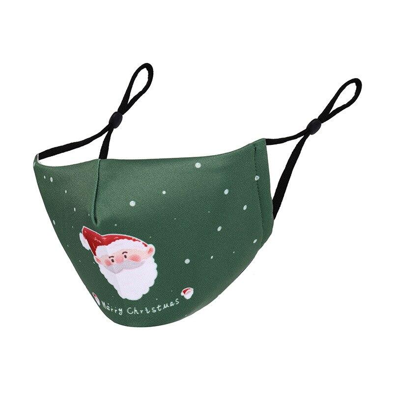 Multi-purpose Christmas Face Mask Breathable Face Shield Xmas Gifts Christmas Ornaments Cosplay Decor Mouth-muffle Navidad 2020 4