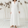Summer season Costume Kaftan Cotton Lengthy