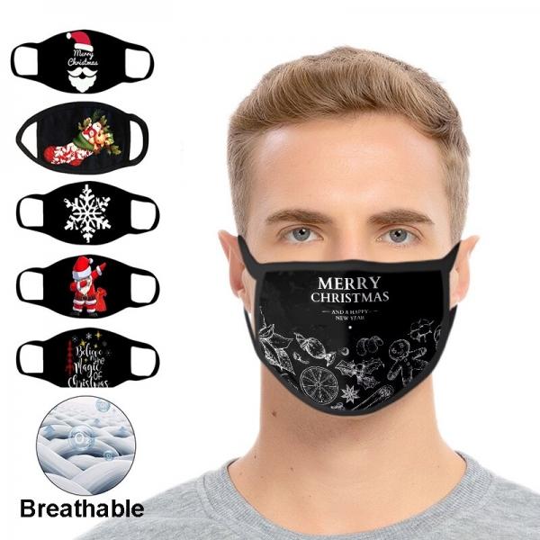 Resuable Christmas Face Mask Breathable Washable