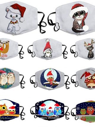 Unisex Merry Christmas Face Masks Cute