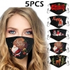 5pc Christmas Face Masks Activated Windproof