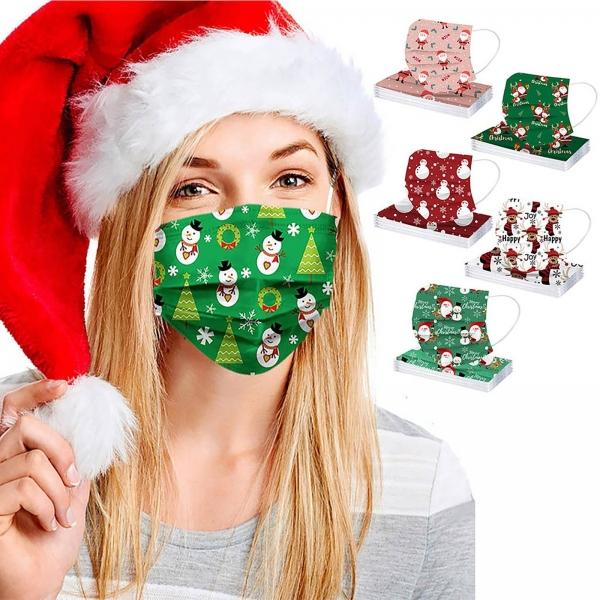 50PC combined shade masks christmas face mask