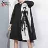 Shade Girls Shirt Costume Black White Shirt Patchwork