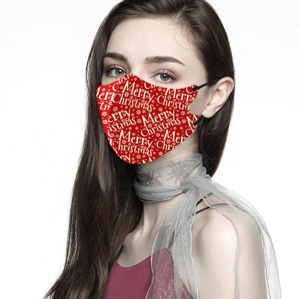 Men Women Christmas Face Mask Reusable Mouth Adlult Mask Outdoor Washable Mask For Face Warm Masks Girl Protective Red Mi Note 9 3
