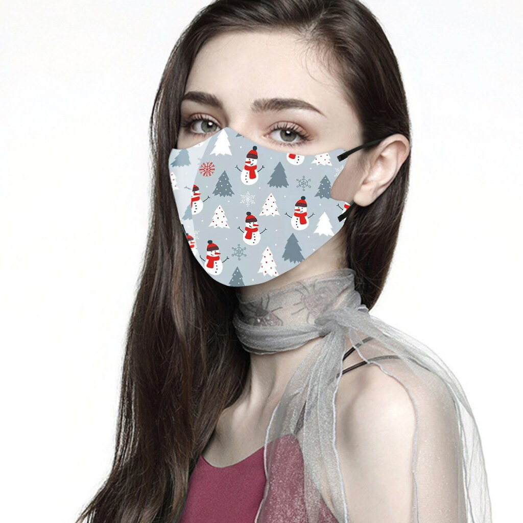 Men Women Christmas Face Mask Reusable Mouth Adlult Mask Outdoor Washable Mask For Face Warm Masks Girl Protective Red Mi Note 9 1
