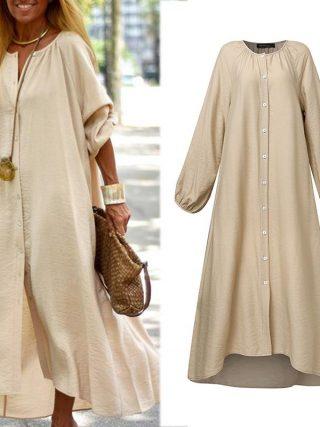 Classic Midi Costume Kaftan Stable Shirt Vestidos Celmia